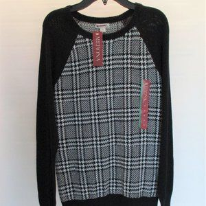 MERONA Black & White Pull Over Sweater